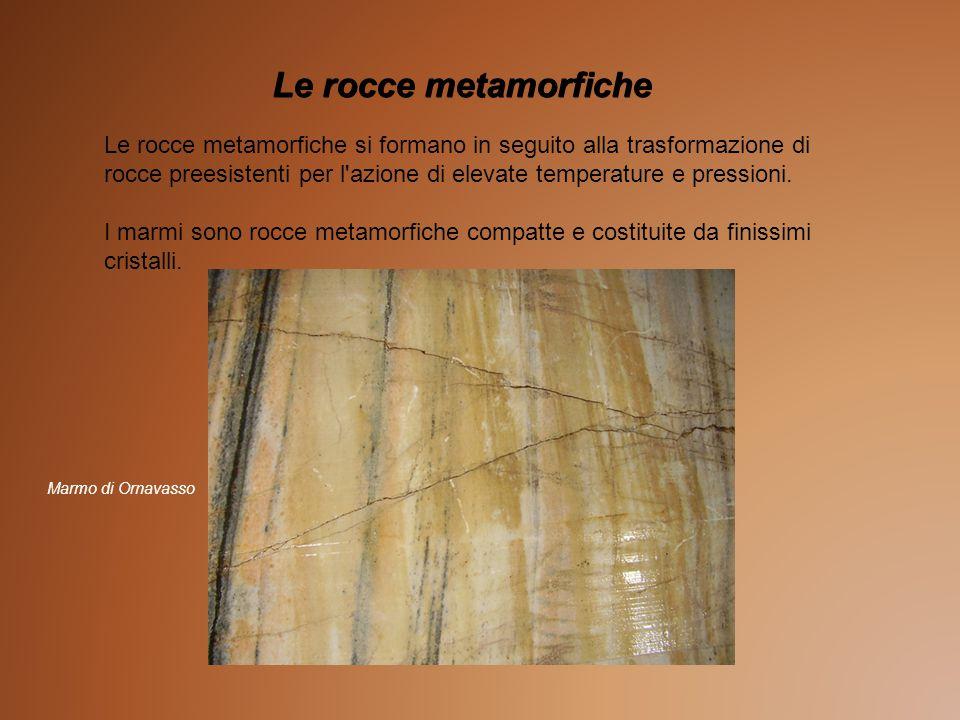 Le rocce metamorfiche