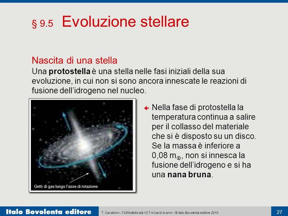 § 9.5 Evoluzione stellare Nascita di una stella
