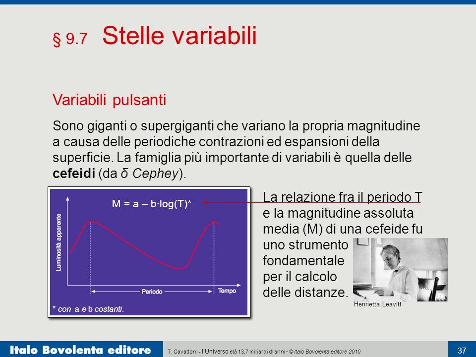 § 9.7 Stelle variabili Variabili pulsanti