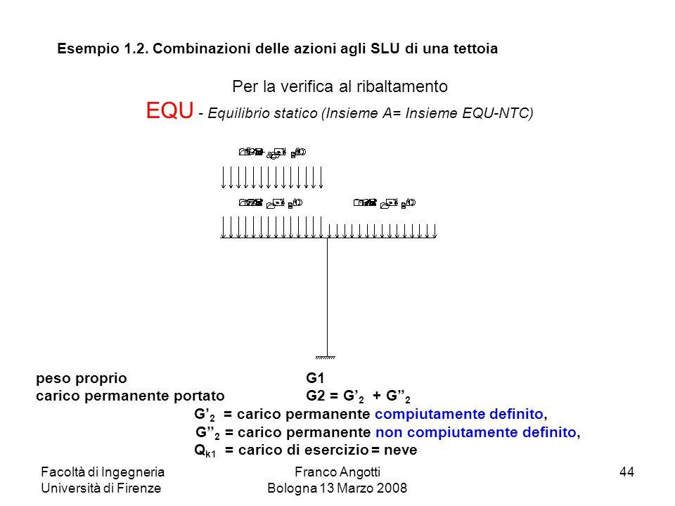 EQU - Equilibrio statico (Insieme A= Insieme EQU-NTC)