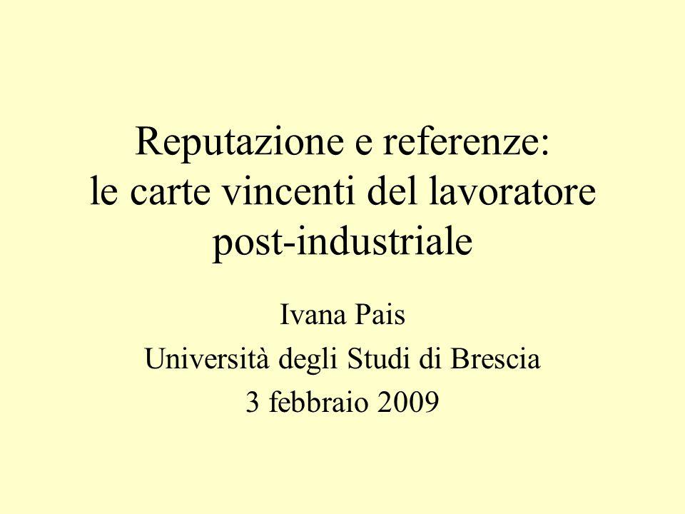 Ivana Pais Università degli Studi di Brescia 3 febbraio 2009