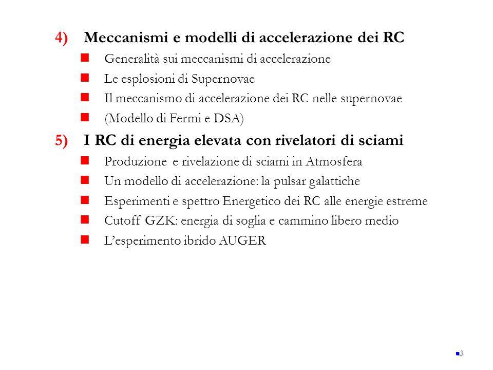 Meccanismi e modelli di accelerazione dei RC