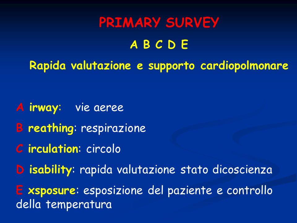 Rapida valutazione e supporto cardiopolmonare