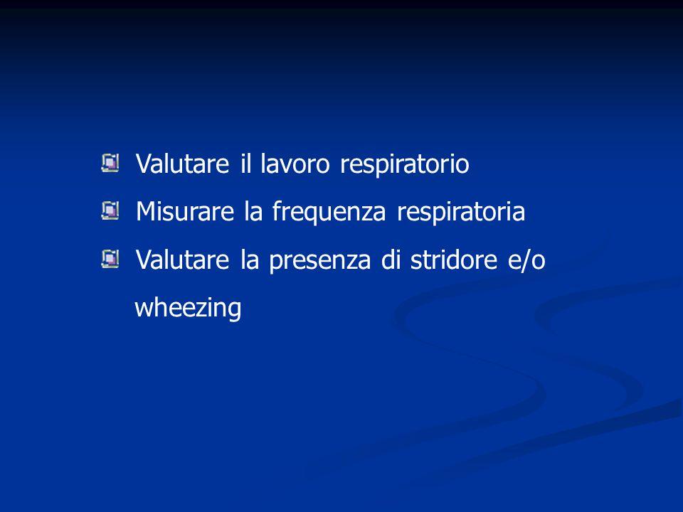 Valutare il lavoro respiratorio