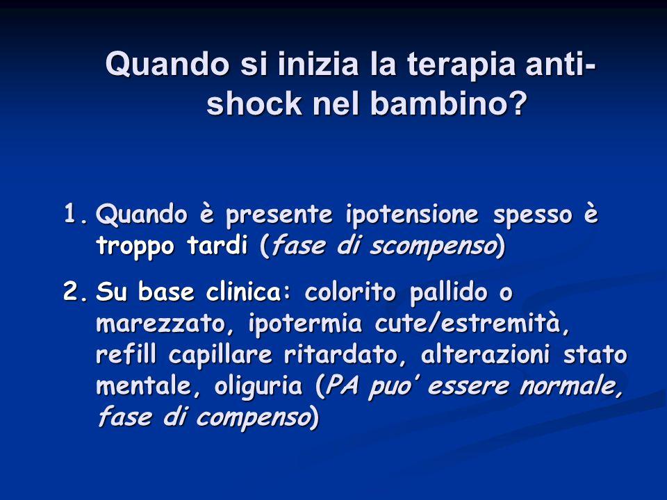 Quando si inizia la terapia anti-shock nel bambino