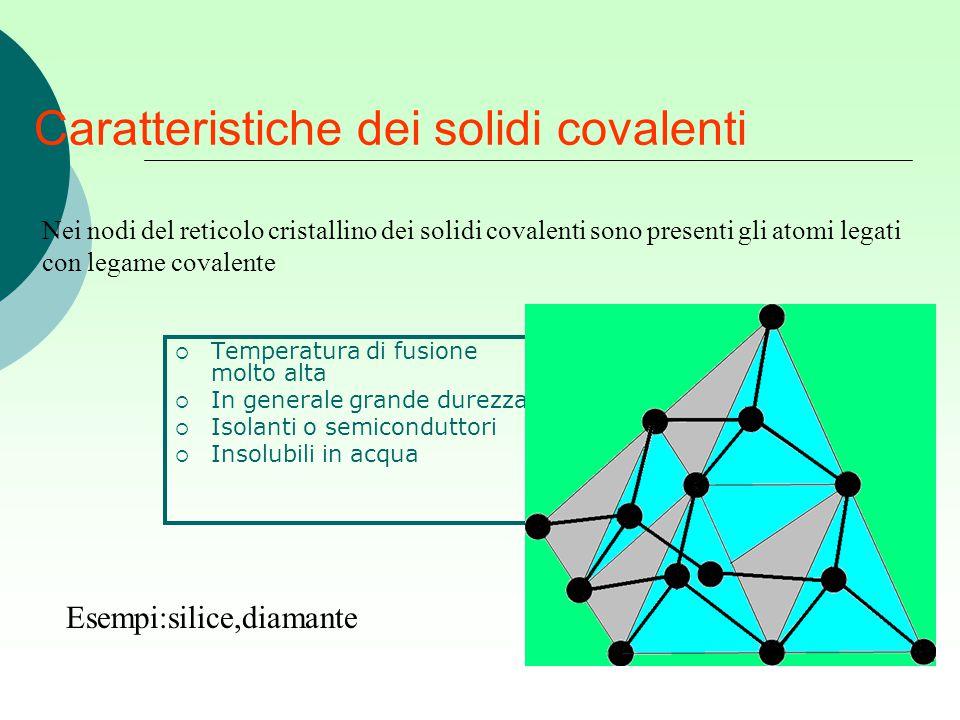 Caratteristiche dei solidi covalenti