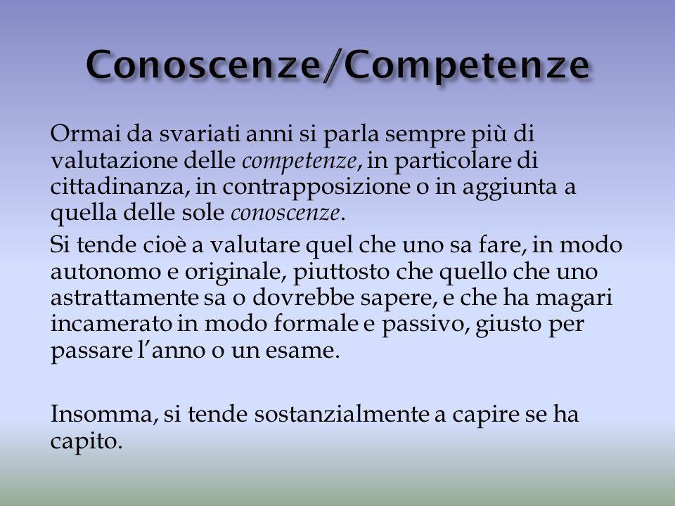 Conoscenze/Competenze