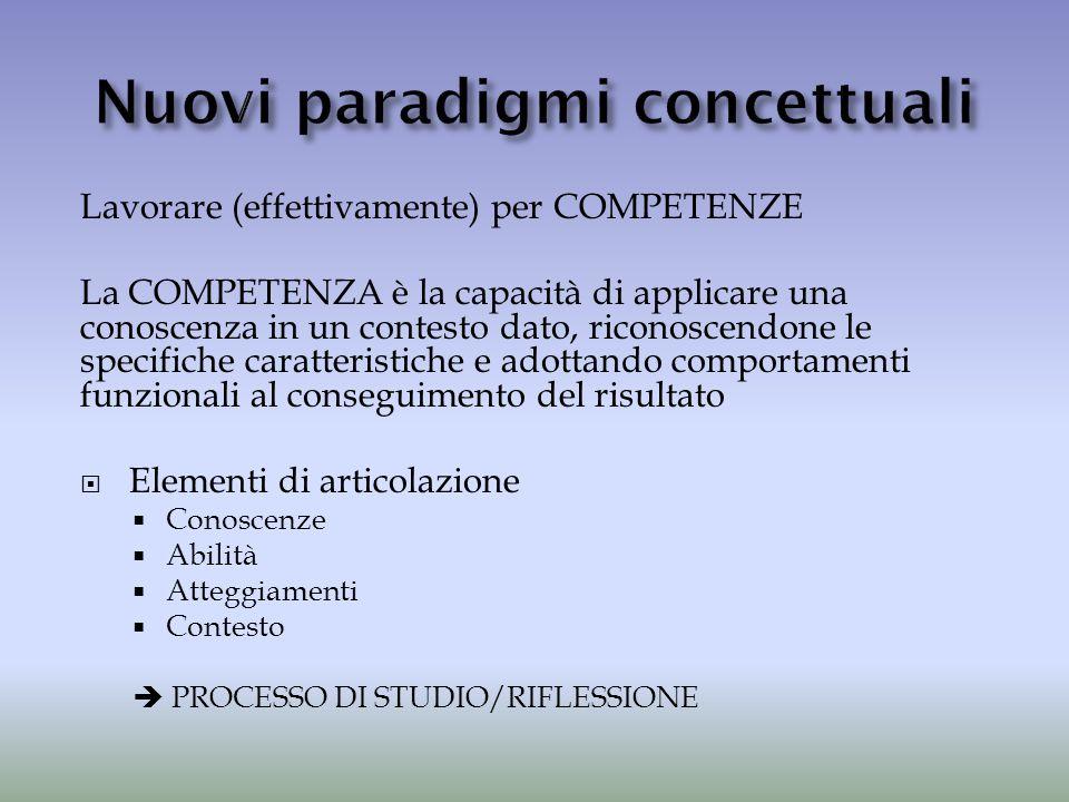 Nuovi paradigmi concettuali