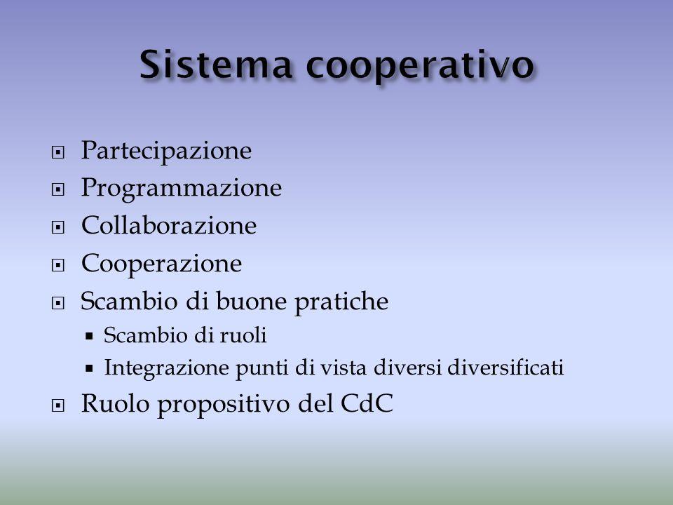 Sistema cooperativo Partecipazione Programmazione Collaborazione