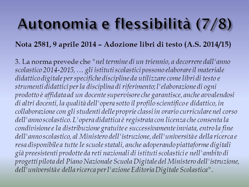 Autonomia e flessibilità (7/8)