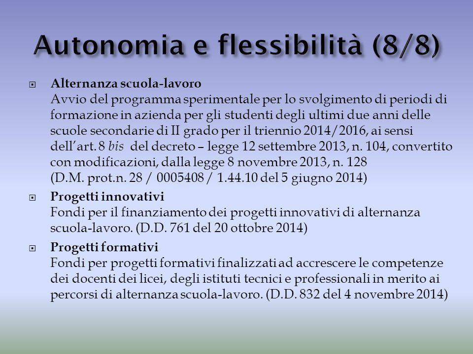 Autonomia e flessibilità (8/8)