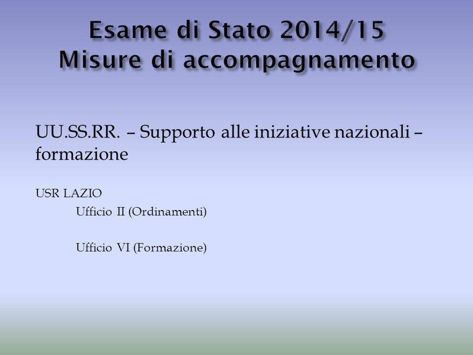 Esame di Stato 2014/15 Misure di accompagnamento