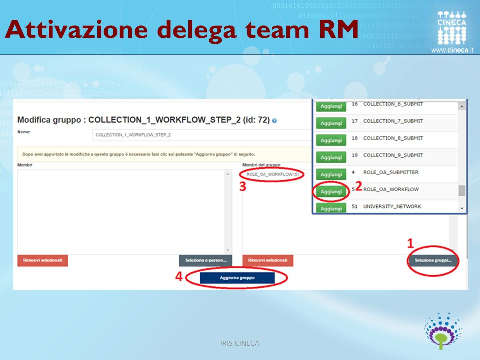 Attivazione delega team RM