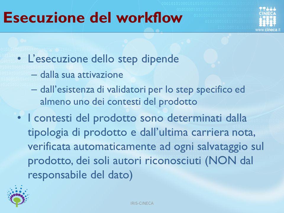 Esecuzione del workflow