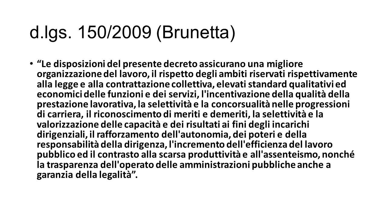 d.lgs. 150/2009 (Brunetta)