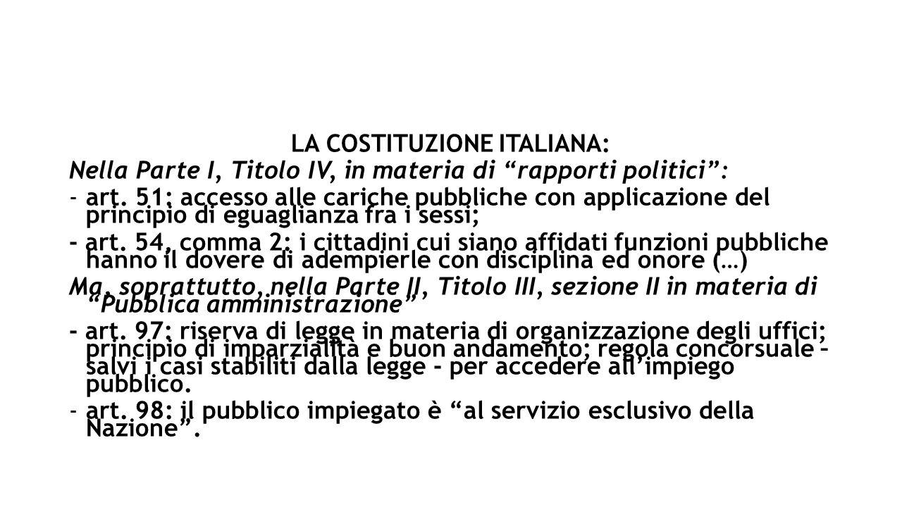 LA COSTITUZIONE ITALIANA: