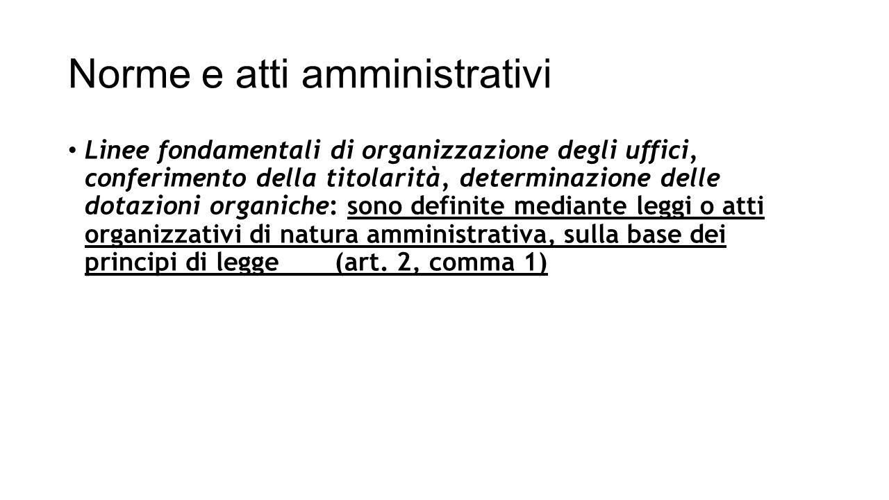 Norme e atti amministrativi