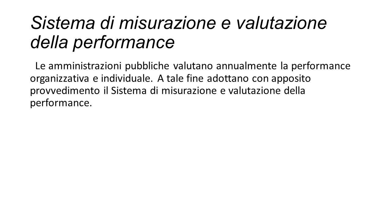 Sistema di misurazione e valutazione della performance
