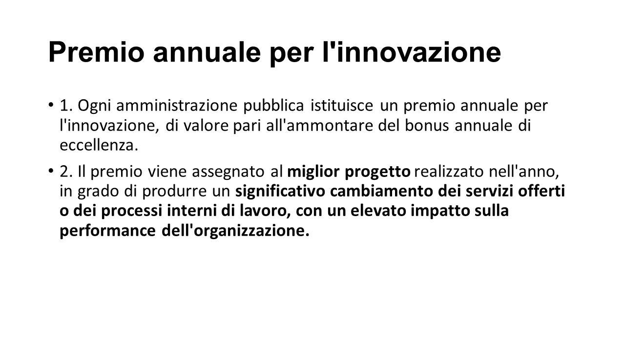Premio annuale per l innovazione