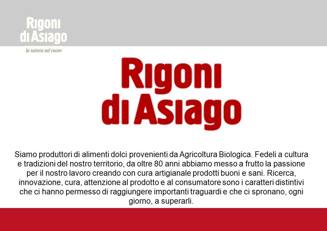 Siamo produttori di alimenti dolci provenienti da Agricoltura Biologica.
