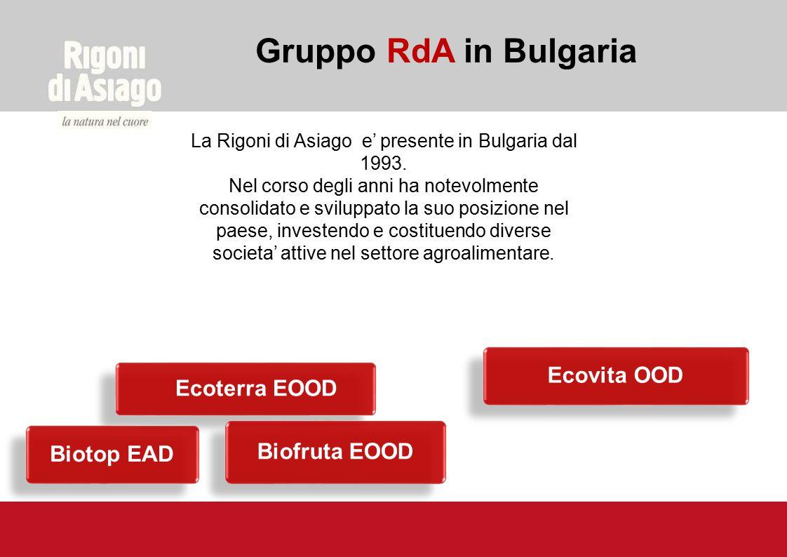 La Rigoni di Asiago e' presente in Bulgaria dal 1993.