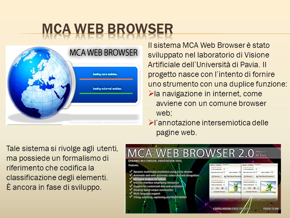 MCA WEB BROWSER