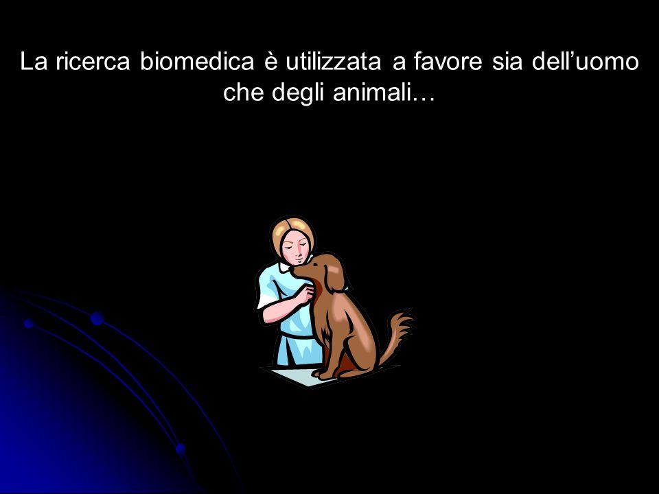 La ricerca biomedica è utilizzata a favore sia dell'uomo che degli animali…