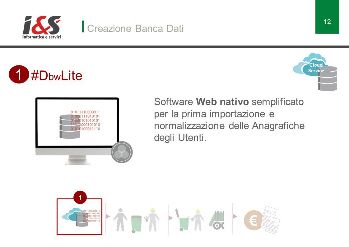 1 #DbwLite Creazione Banca Dati