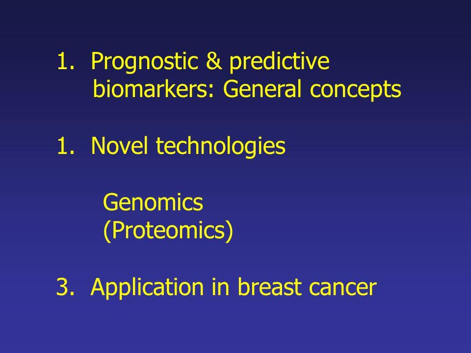 Prognostic & predictive