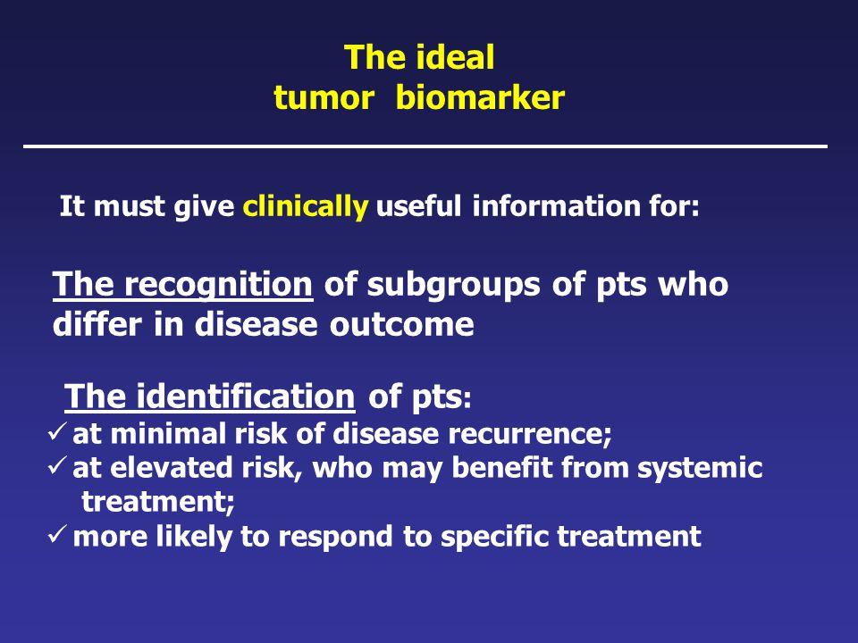 The ideal tumor biomarker