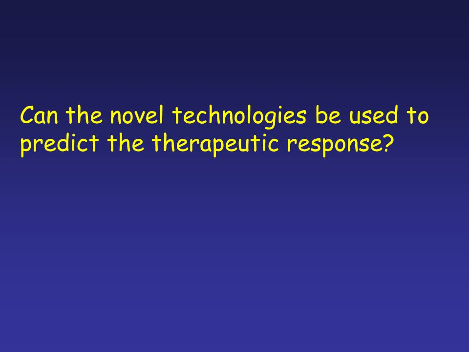 Can the novel technologies be used to
