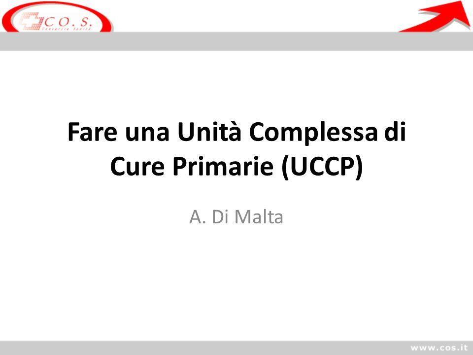Fare una Unità Complessa di Cure Primarie (UCCP)