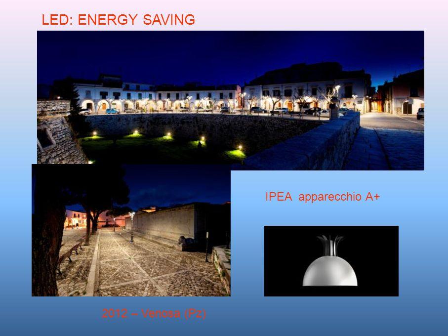 LED: ENERGY SAVING IPEA apparecchio A+ 2012 – Venosa (Pz)