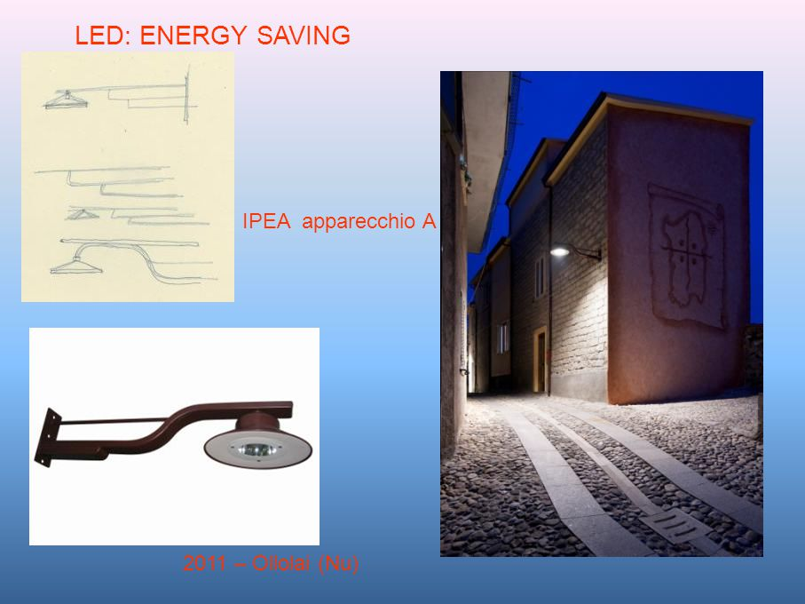 LED: ENERGY SAVING IPEA apparecchio A 2011 – Ollolai (Nu)