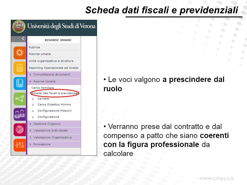 Scheda dati fiscali e previdenziali