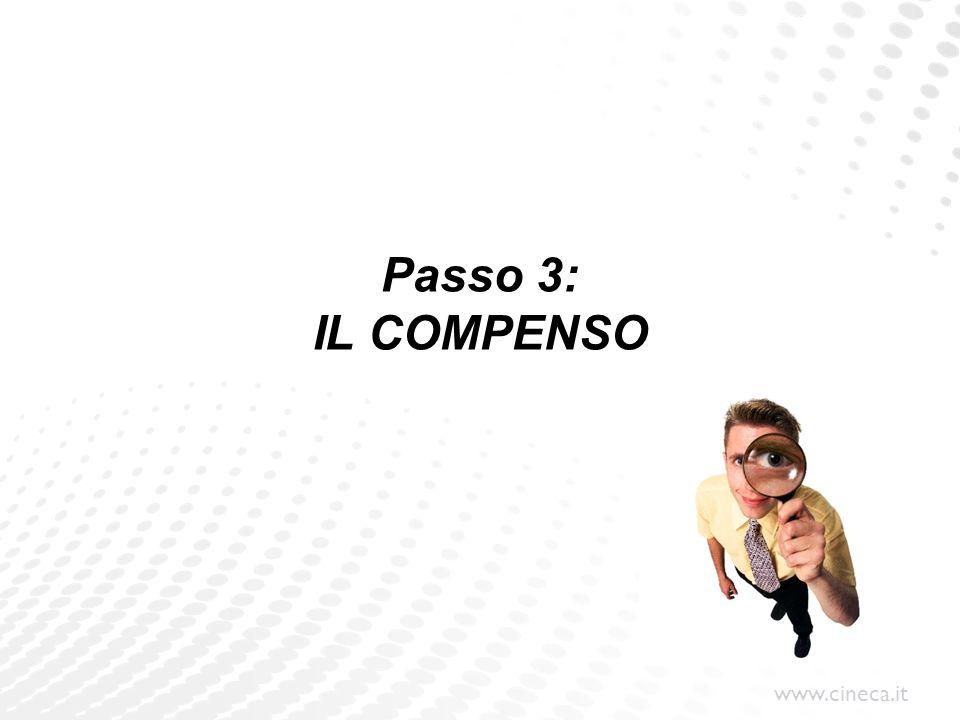 Passo 3: IL COMPENSO