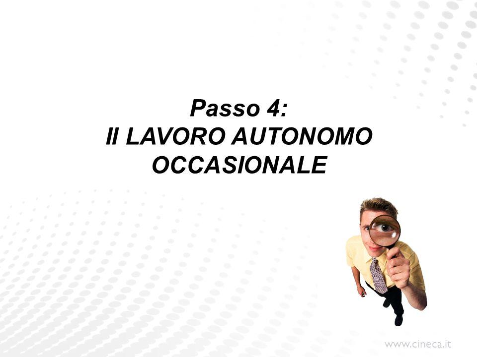 Passo 4: Il LAVORO AUTONOMO OCCASIONALE