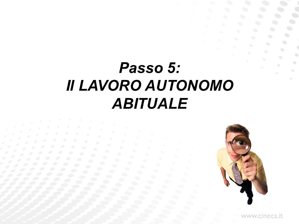 Passo 5: Il LAVORO AUTONOMO ABITUALE