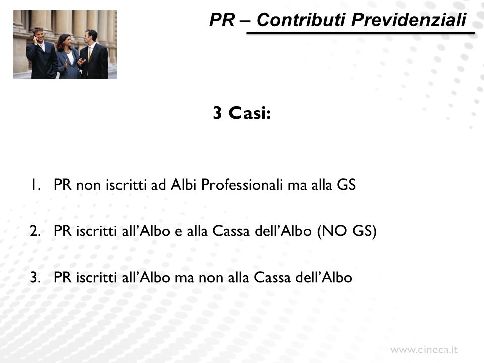 PR – Contributi Previdenziali