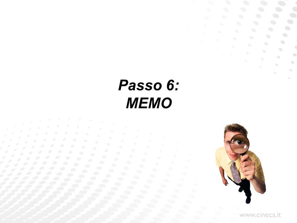 Passo 6: MEMO