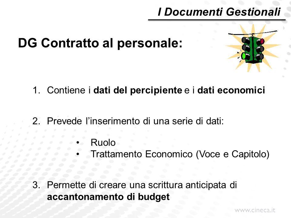 DG Contratto al personale:
