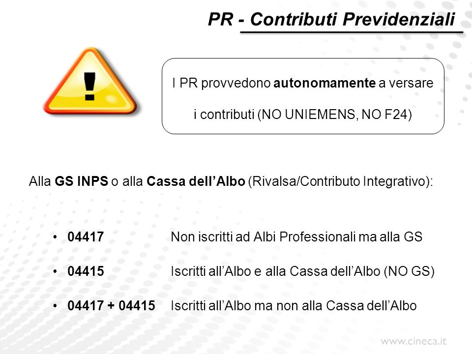PR - Contributi Previdenziali