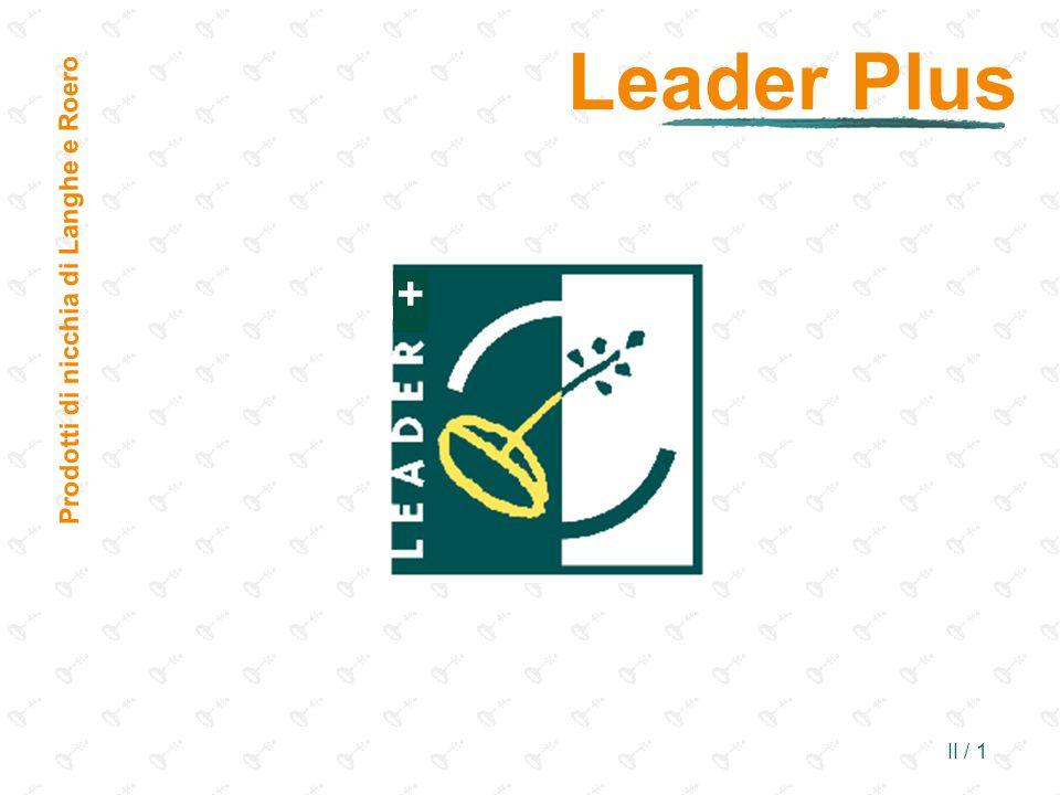 Leader Plus Prodotti di nicchia di Langhe e Roero +