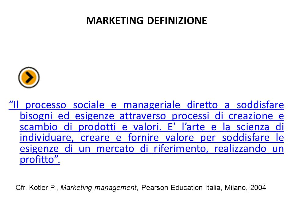MARKETING DEFINIZIONE