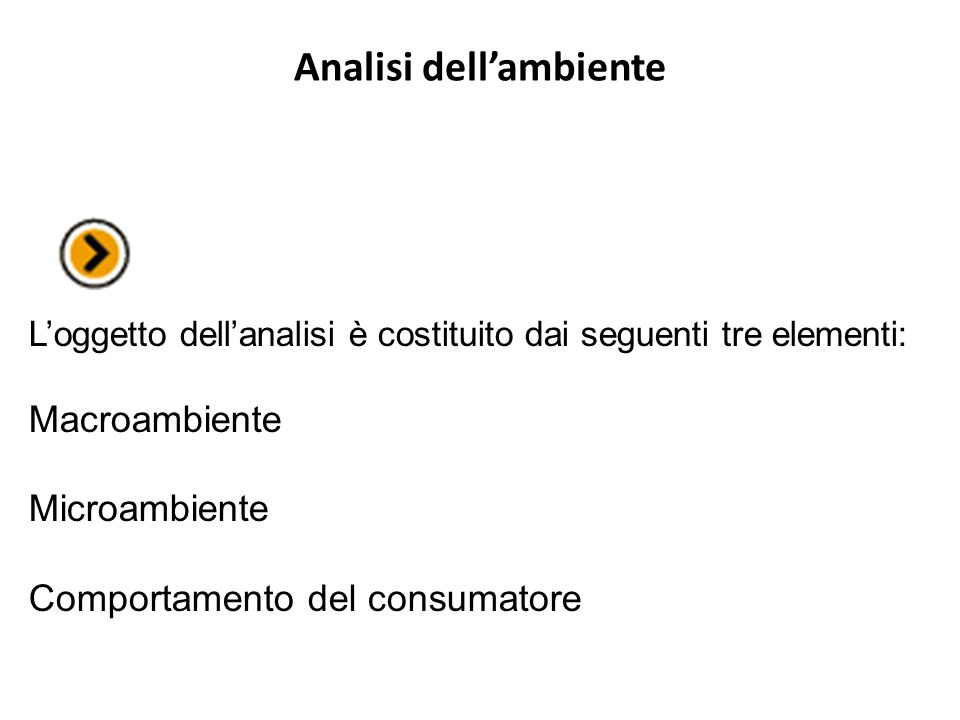 Analisi dell'ambiente