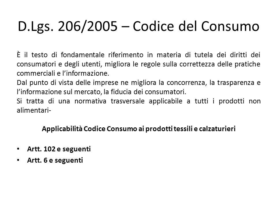 D.Lgs. 206/2005 – Codice del Consumo