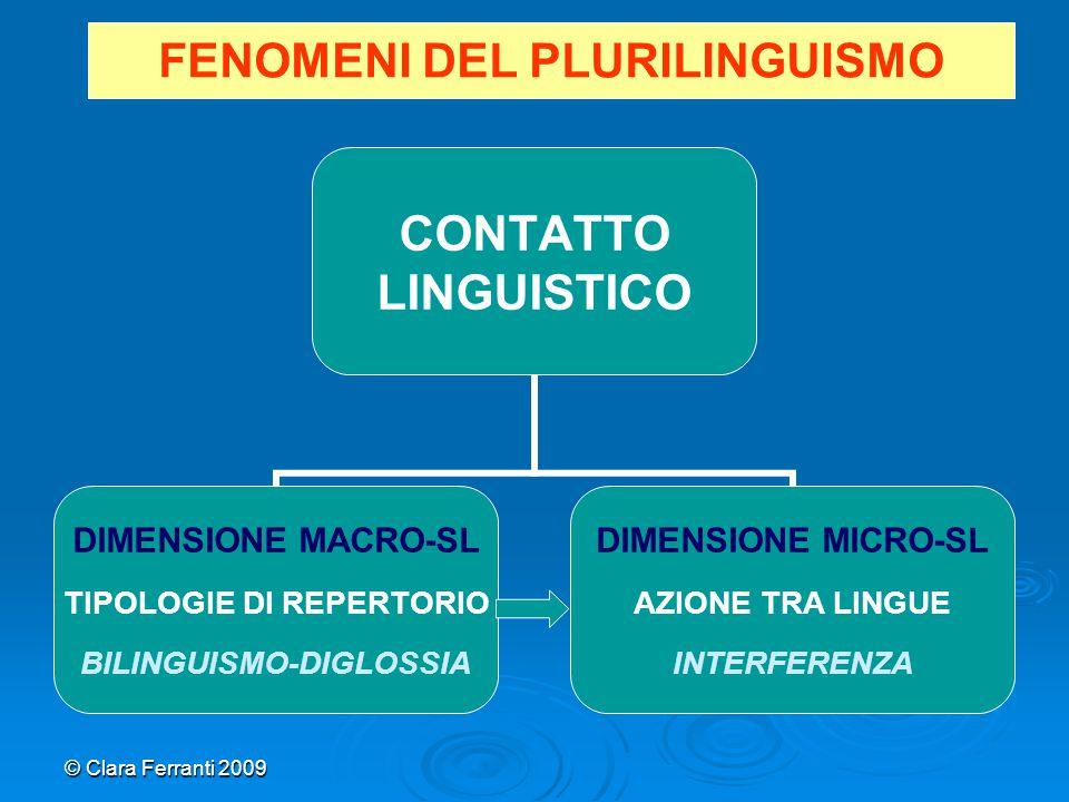 FENOMENI DEL PLURILINGUISMO