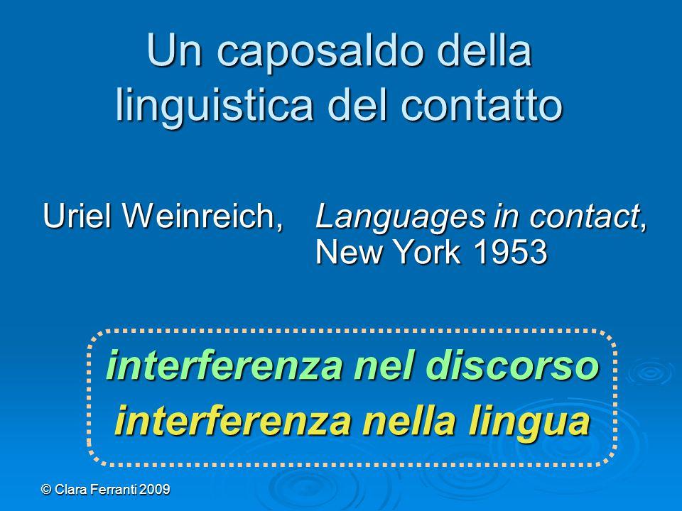 Un caposaldo della linguistica del contatto