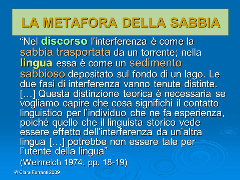 LA METAFORA DELLA SABBIA