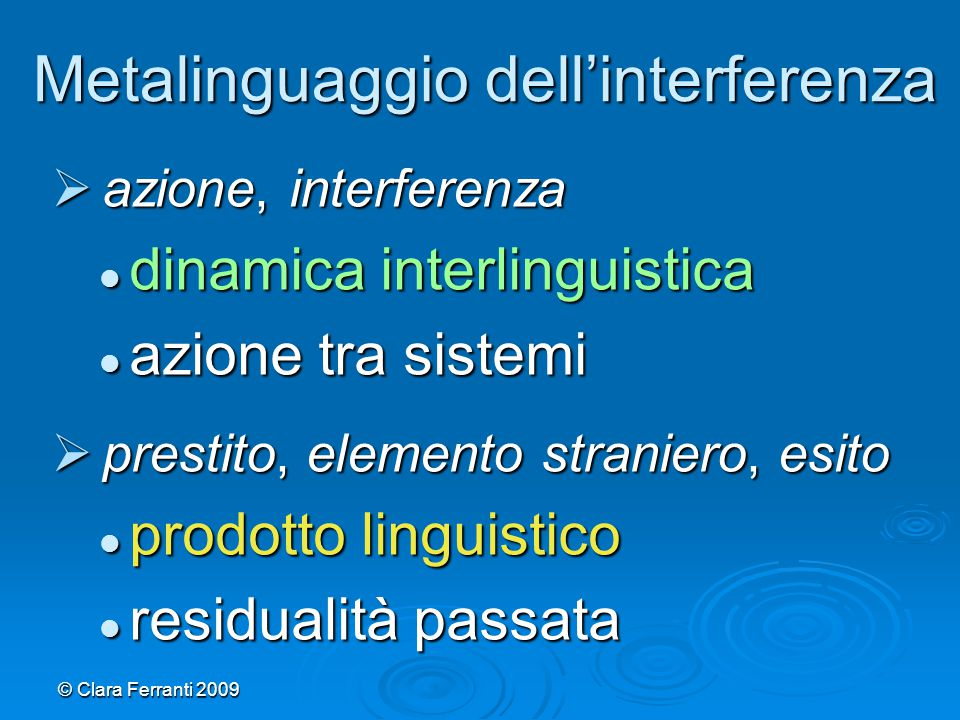 Metalinguaggio dell'interferenza